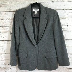 Pendelton Gray Virgin Wool One Button Blazer